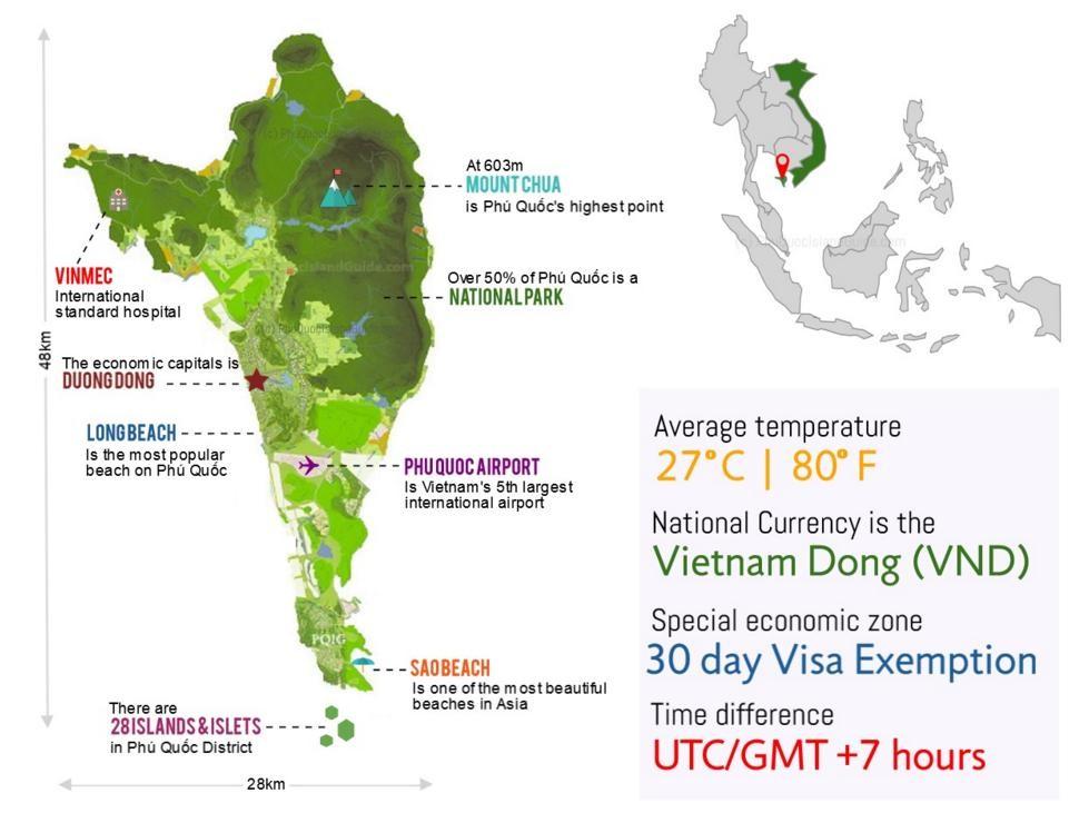 Bản đồ giới thiệu về đảo Phú Quốc