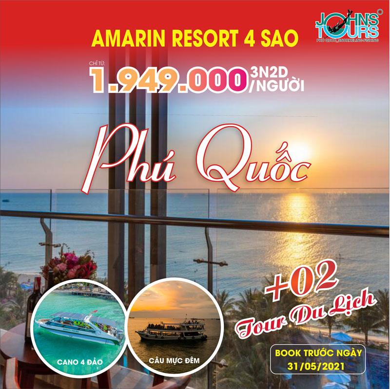 Mừng lễ 30-4 KM Combo Phú Quốc 3N2D tại Amarin Resort & Spa