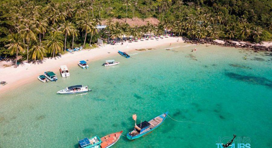 Paket 3: Sao Beach - Linbanan - Pagoden Ho Quoc - Fingernail Island - Ön Gam Ghi - Ön May Rut