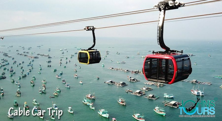 Package 3: Sao Beach - Cable car - Ho Quoc pagoda - Fingernail island - Gam Ghi island - May Rut island